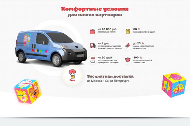 Блок с изображением брендированного автомобиля